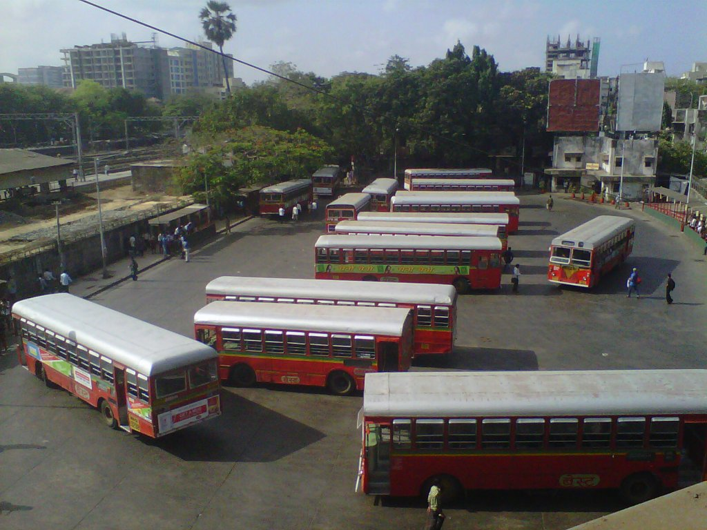 A bus depot in Mumbai