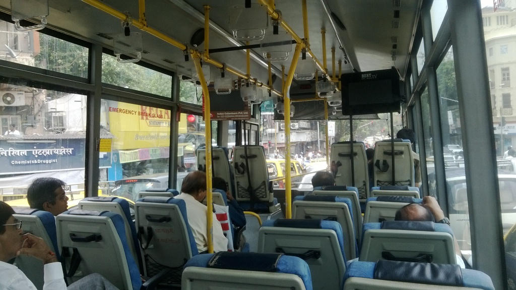 Inside an AC BEST bus Mumbai