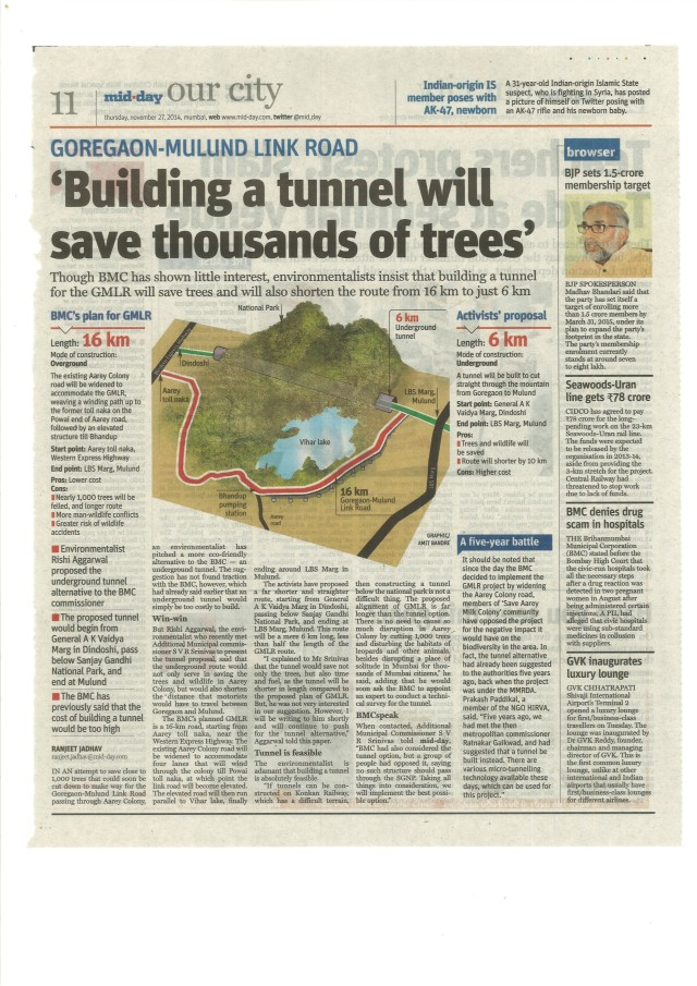 Mid-Day tunnel article