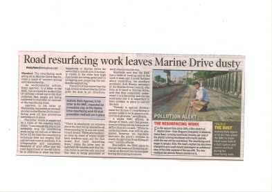 Marine Drive ToI article